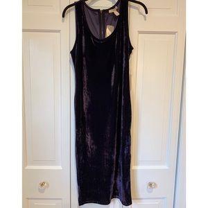 Dark purple velvet bodycon dress